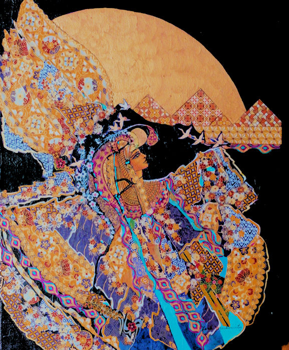 "Leah Markowitz Fine Art - Isis (SOLD) 24 x 20"" Origami Paper, Acrylic on Canvas"